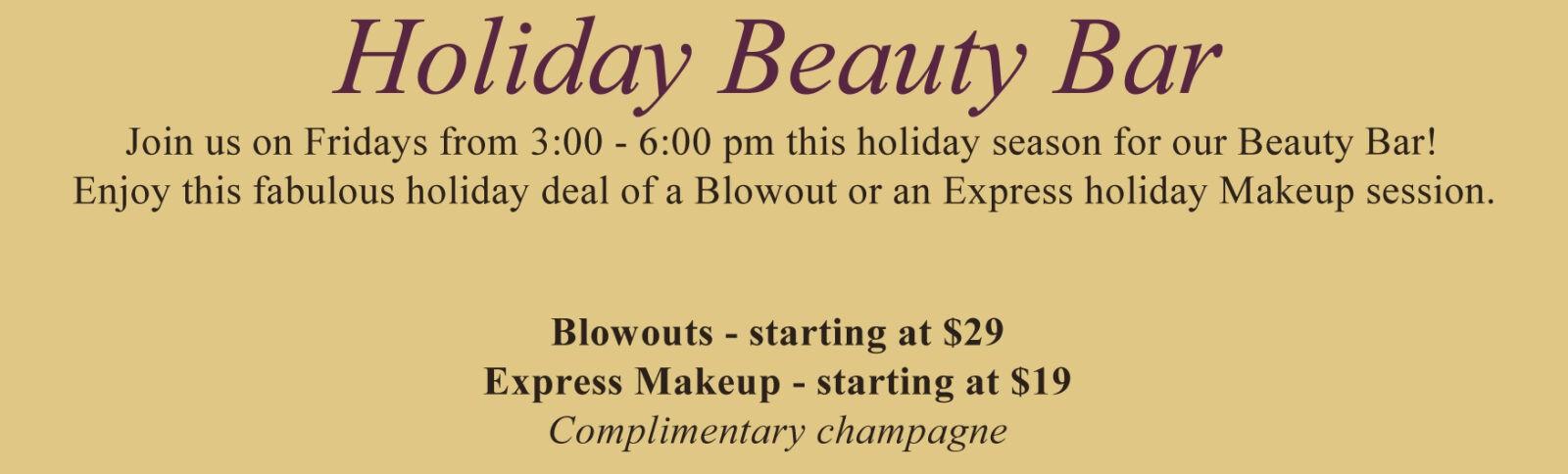 holiday beauty bar