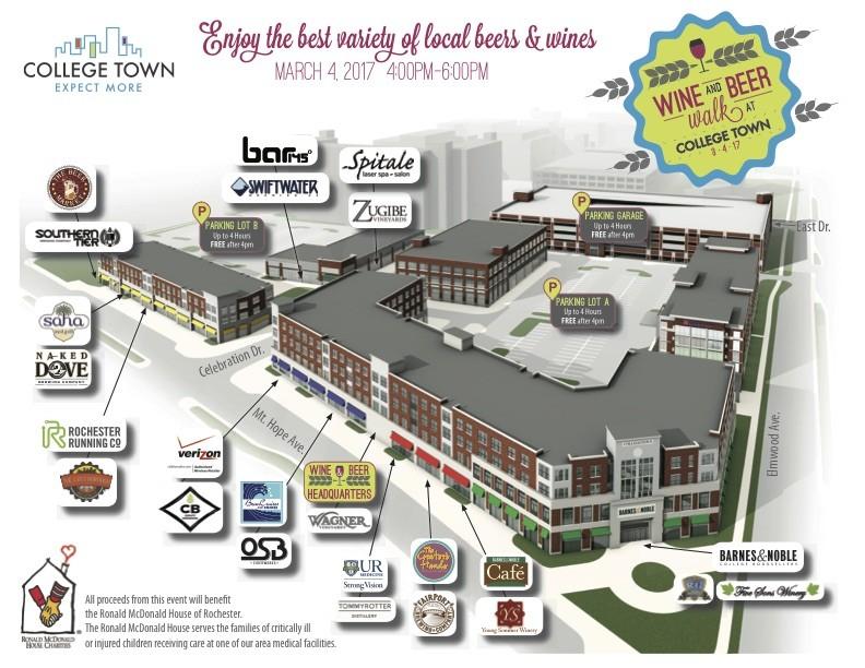College Town Wine & Beer Walk Map-8.5x11