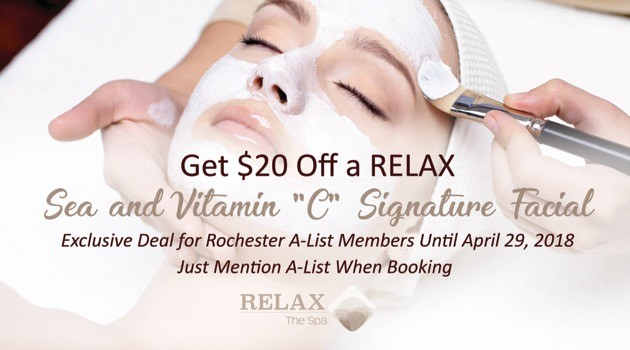 $20 Discount at Relax The Spa Rochester
