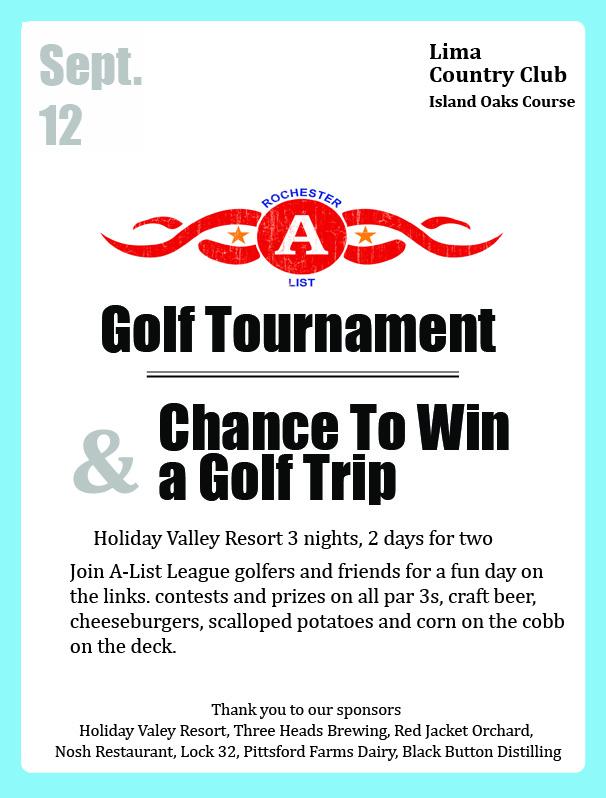 A-List Golf League Poster Front